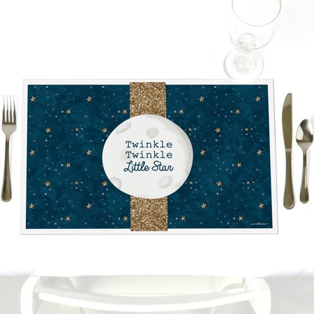 Twinkle Little Star - Party Table Decorations - Baby Shower or Birthday Party Placemats - Set of
