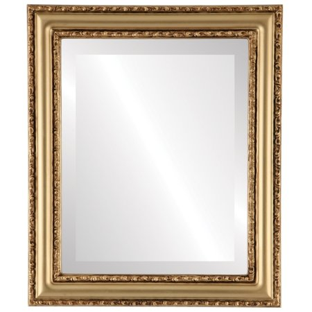 The Oval and Round Mirror Store Dorset Framed Round Mirror in Gold Spray