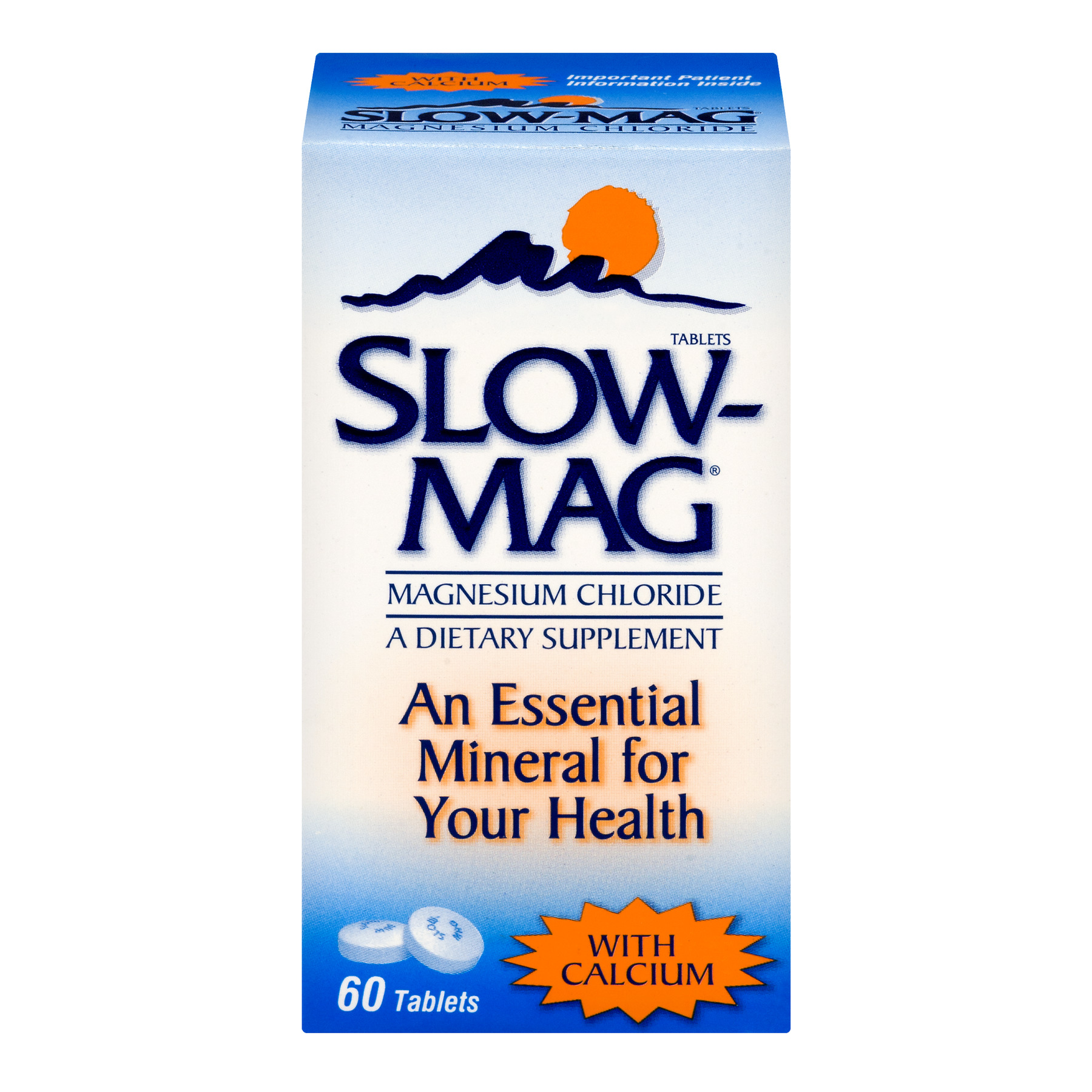Slow-Mag Magnesium Chloride with Calcium Tablets - 60 CT60.0 CT