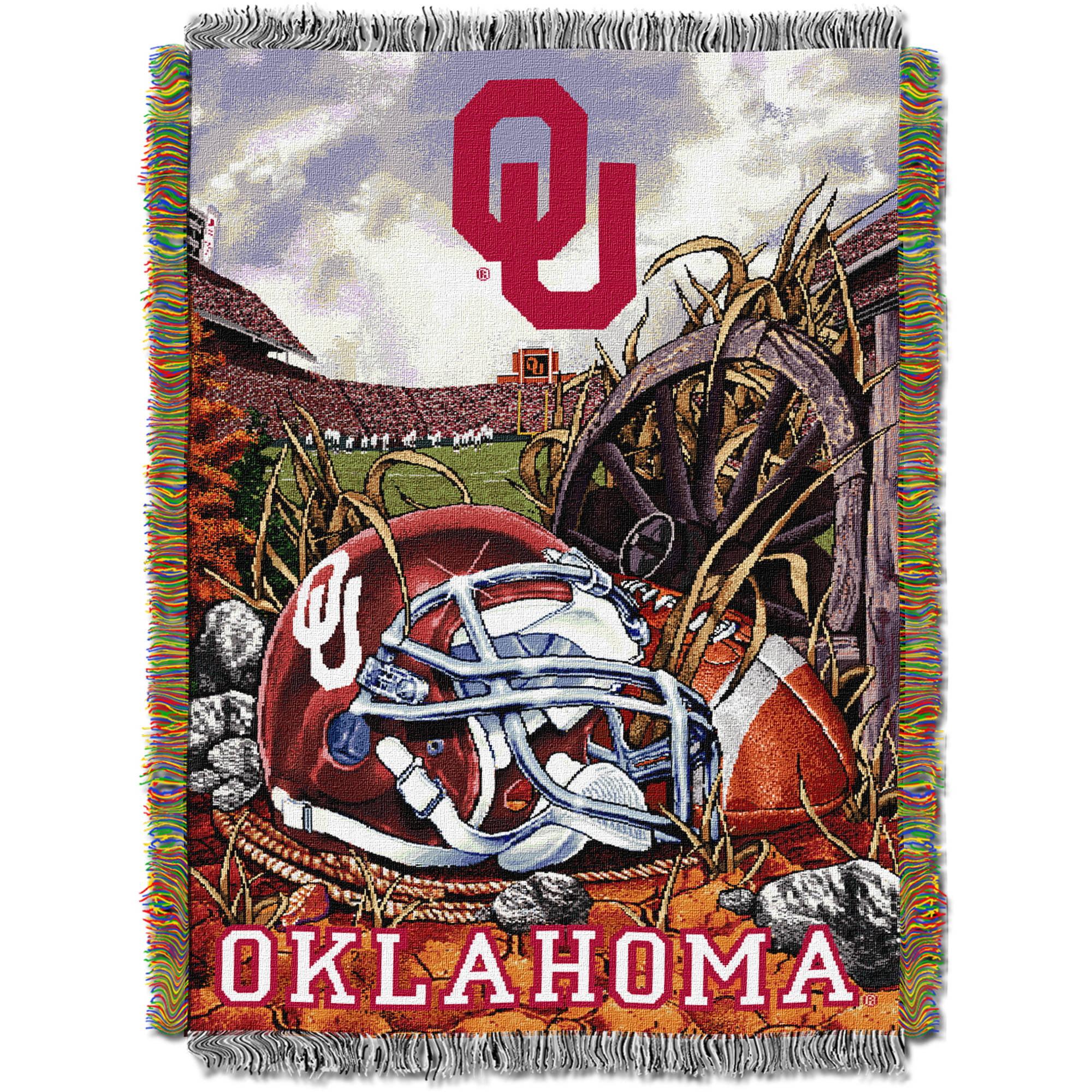 "NCAA 48"" x 60"" Tapestry Throw Home Field Advantage Series- Oklahoma"