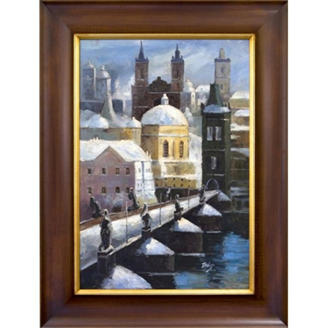 Artmasters Collection PA89914-LW54 City View Framed Oil Painting