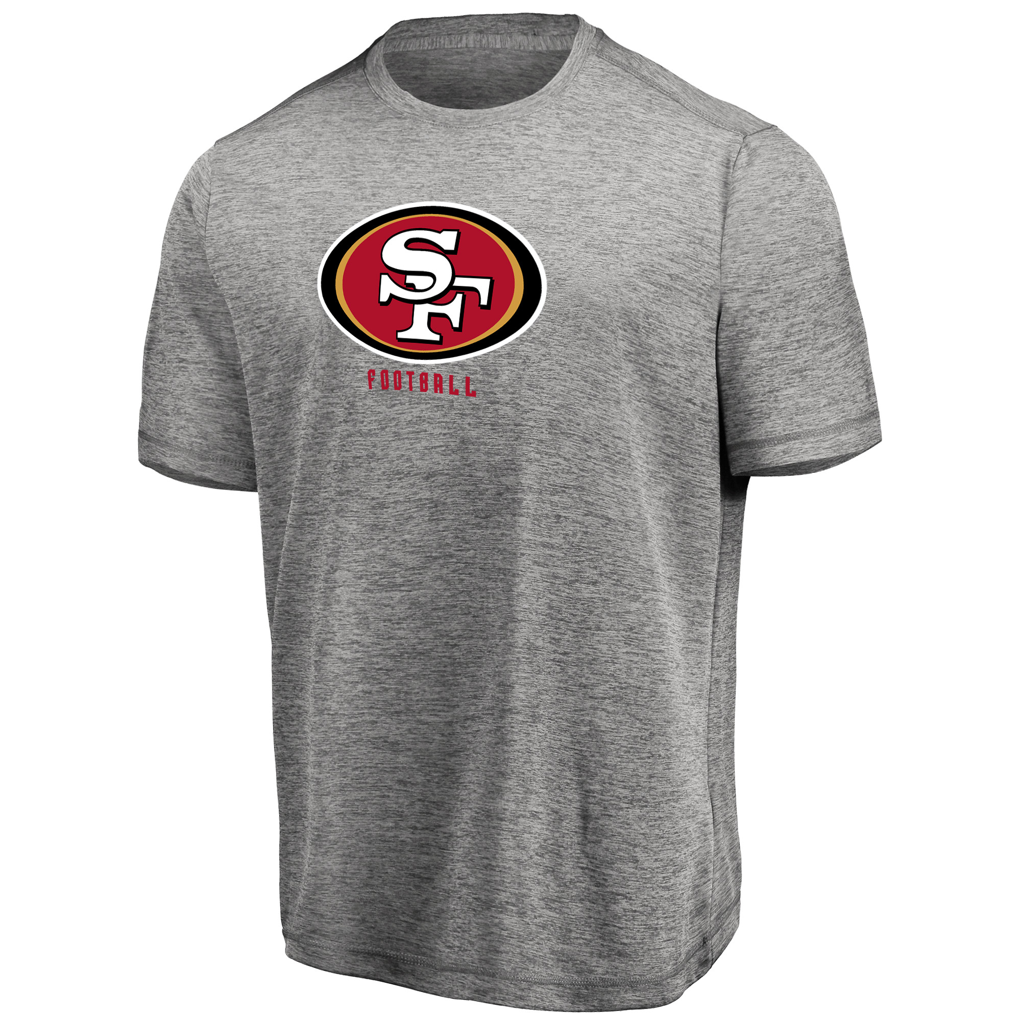Men's Majestic Heathered Gray San Francisco 49ers Proven Winner Synthetic TX3 Cool Fabric T-Shirt