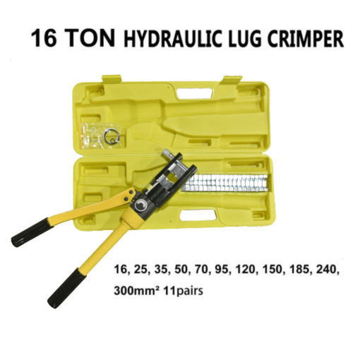 16 Ton Hydraulic Wire Battery Cable Lug Terminal Crimper ...