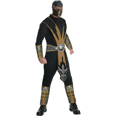 Adult's Mortal Kombat Scorpion Ninja Assassin Costume (Kids Mortal Kombat Scorpion Costume)