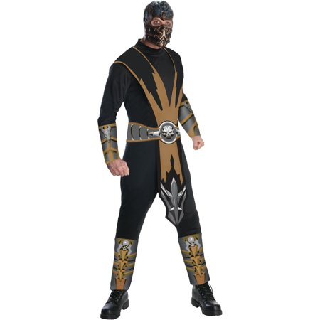 Adult's Mortal Kombat Scorpion Ninja Assassin Costume](Mortal Kombat X Halloween Costumes)