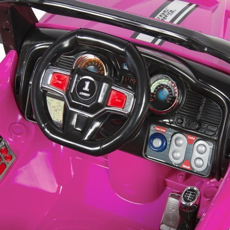 12V MP3 Kids Ride on Truck Car R/c Remote Control, LED Lights AUX and Music Pink - image 3 of 7