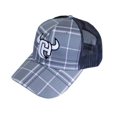 9604f259e7f433 Cowboy Hardware - Men's Cowboy Hardware Logo Plaid Trucker Cap ...