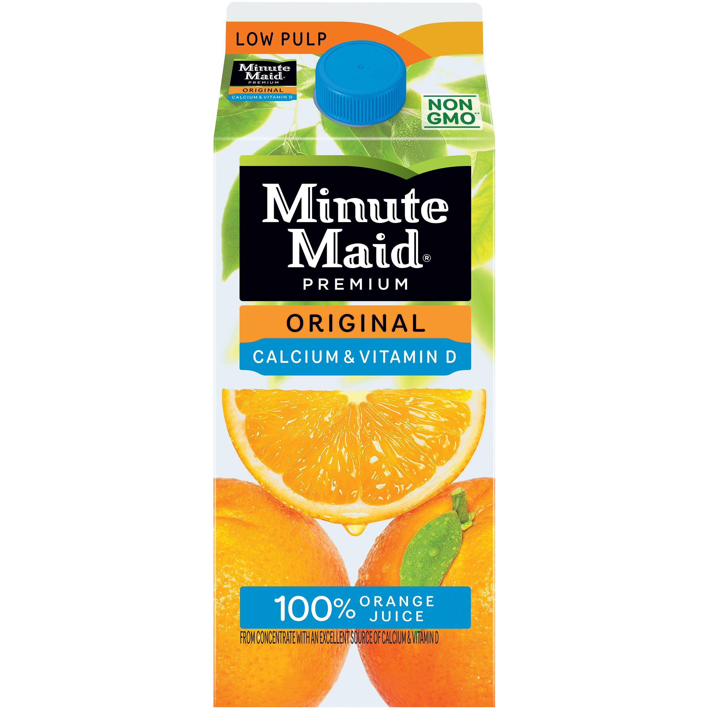 Minute Maid® Premium Original Calcium + Vitamin D Low Pulp 100% Orange Juice 59 fl. oz. Carton