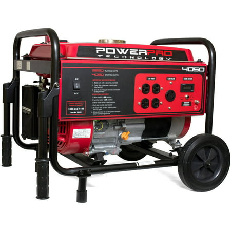 PowerPro 4050W 212cc 7-HP Gas-Powered Portable Generator with Wheel Kit