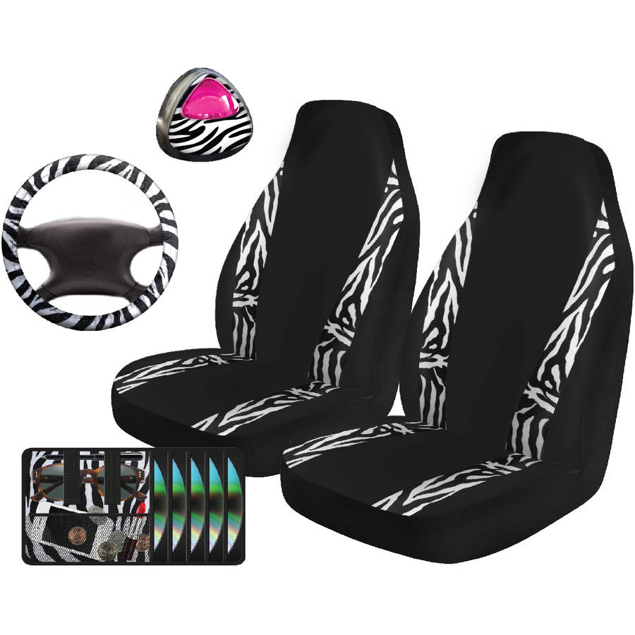 Auto Drive Zebra Mania Automotive Car Kit, 5-Piece