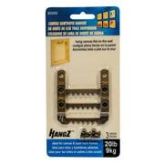 HangZ 20000 Canvas Sawtooth Hanger 20lb (3-Pack)