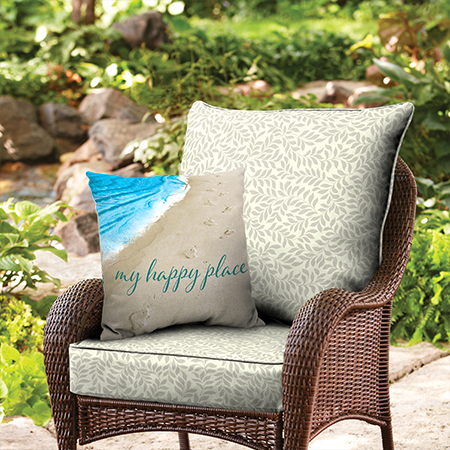 Better Homes and Gardens Ivory Leaf Outdoor Cushion Collection