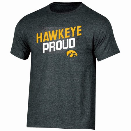- Men's Russell Black Iowa Hawkeyes Slant T-Shirt