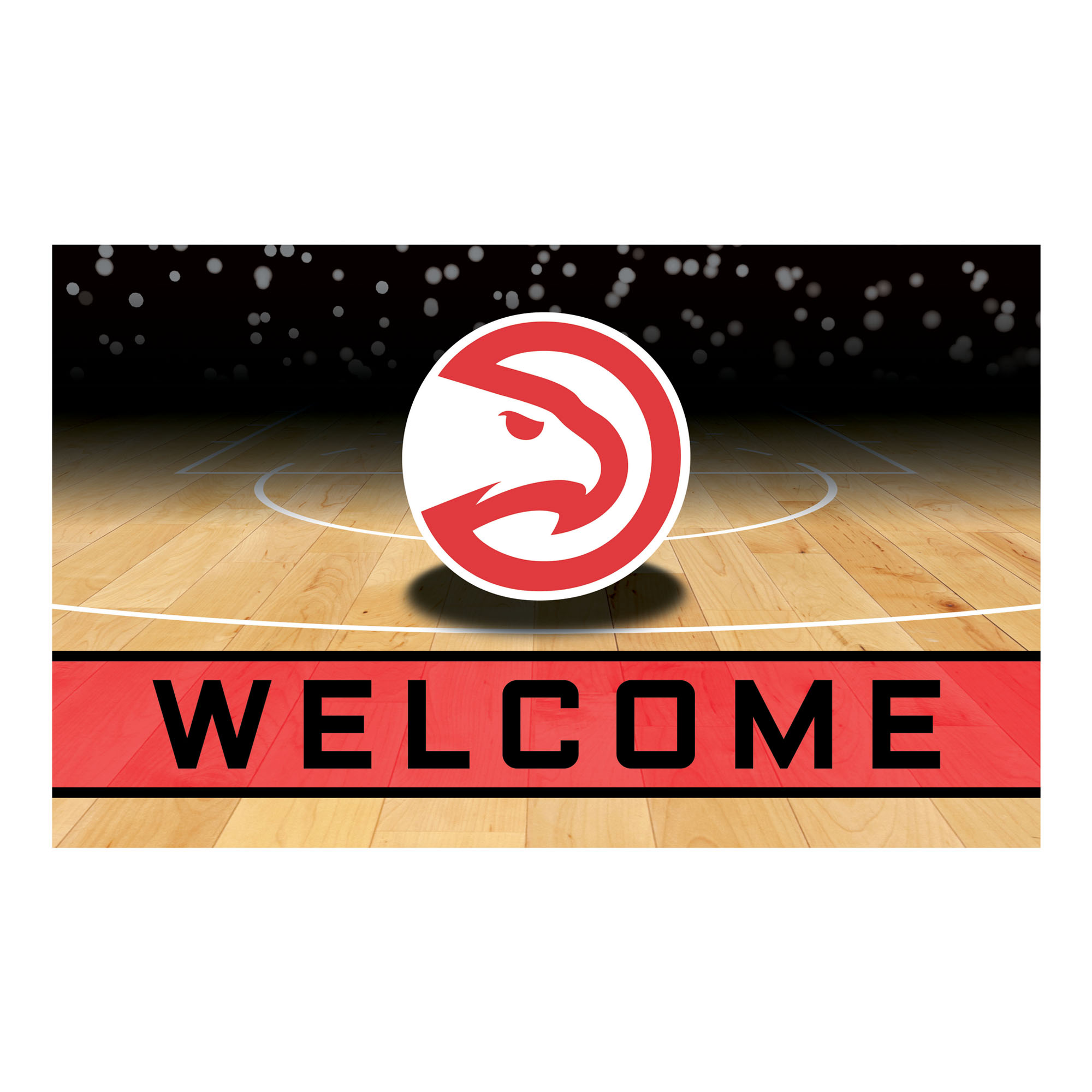 NBA Atlanta Hawks Heavy Duty Crumb Rubber Door Mat