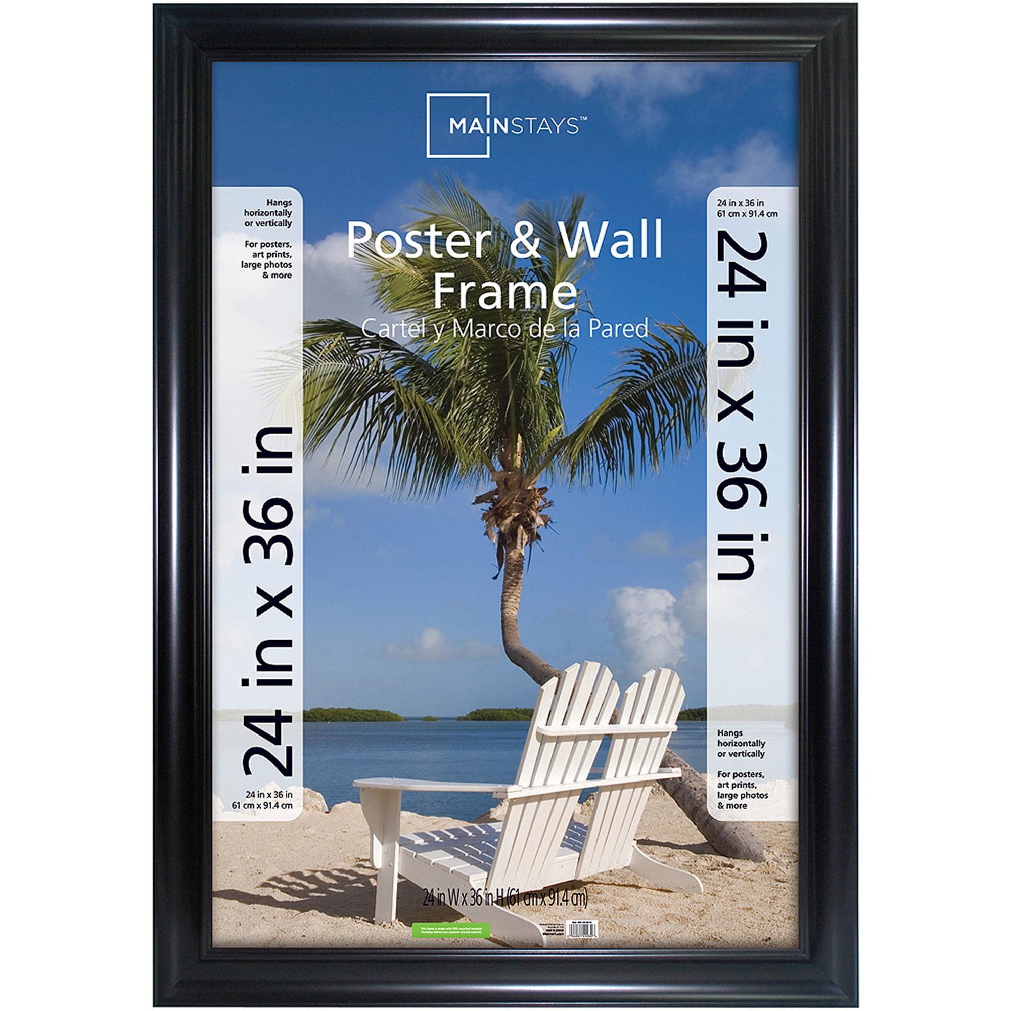Mainstays 24 X 36 Wide Poster Wall Frame Black Walmartcom