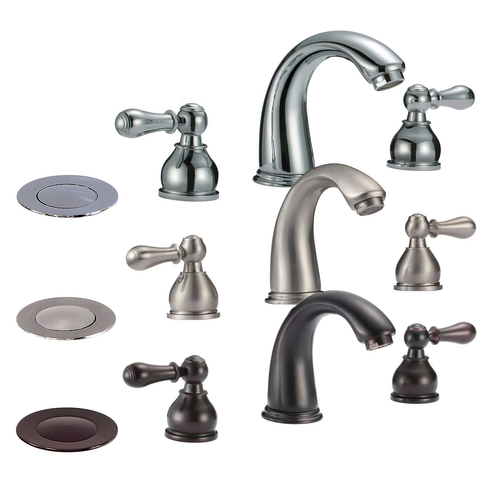 7 Faucet Finishes For Fabulous Bathrooms: FREUER Colletto Collection: Classic Widespread Bathroom