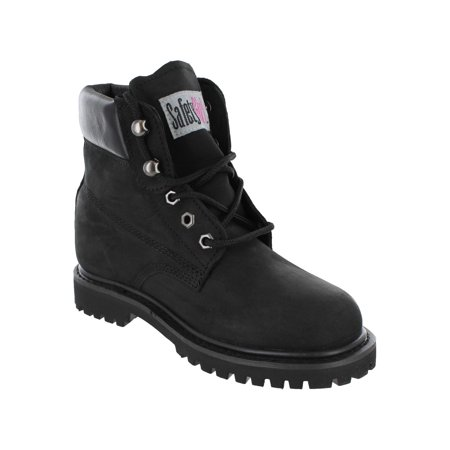 Women Steel Toe Safety Shoes - Safety Girl II Steel Toe Waterproof Women's Work Boots - Black - 10.5M