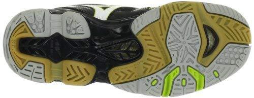 mizuno women's wave tornado 8 volleyball shoe,black/white,7 m us