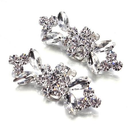 2pcs Crystal Crystal High Heel Shoe Charming Clips Rhinestone Wedding Diamante - image 2 of 7