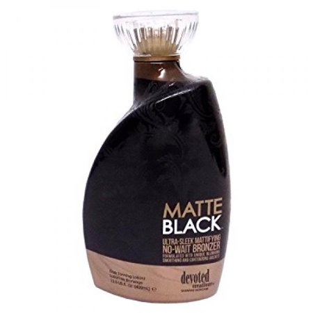 Matte Black, Ultra Sleek, No Wait Tanning Bronzer Lotion 13.5 Ounce ()