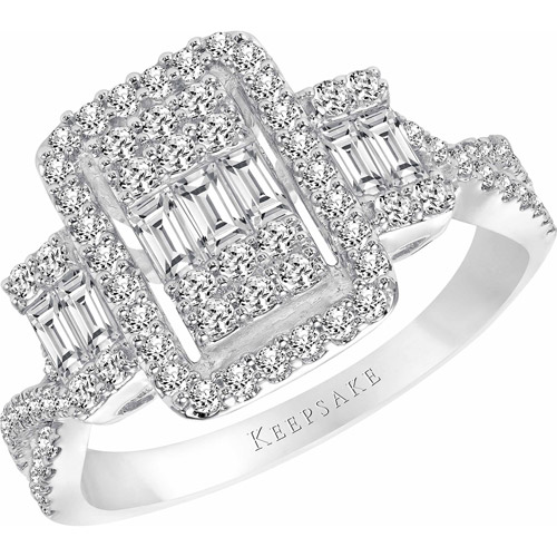 Keepsake Cosmopolitan 1 Carat T.W. Certified Diamond 10kt White Gold Engagement Ring