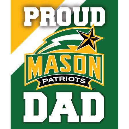 Dad Decal Sticker (George Mason University Patriots NCAA Collegiate 5