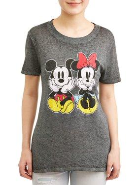 7646001fa1 Product Image Junior s Mickey   Minnie Graphic Heather ...