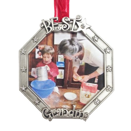 Best Grandma Photo Frame brushed Pewter with Austrian Chrystals made in USA