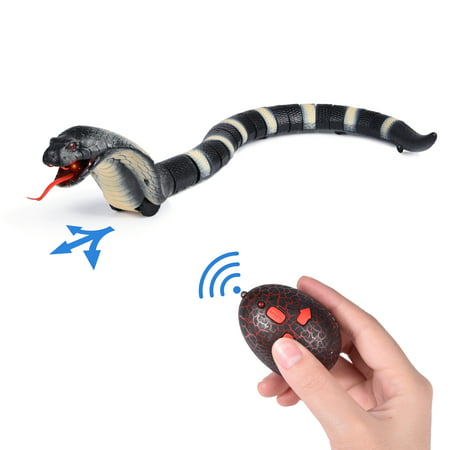 Funny Novelty Realistic Remote Control RC Snake Toy Rattlesnake Animal Christmas Gift Terrifying Toy Mischief Toy Remote Snake F-247 - Wooden Snake Toy