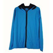 Under Armour Womens Small Blue with Black Running Heatgear Zip Up Jacket NWOT