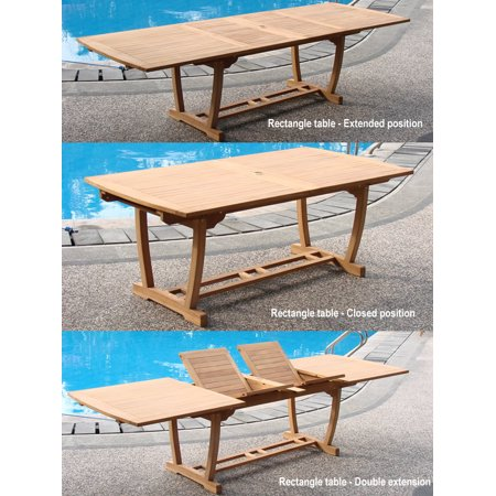 Extra Large Double Extension 117 Mas Rectangle Dining