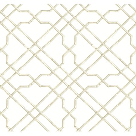 Black & White Bamboo Trellis - Black And White Halloween Wallpaper