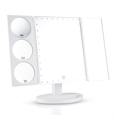 Easehold 35 Led Lighted Vanity Makeup Mirror Tri Fold With