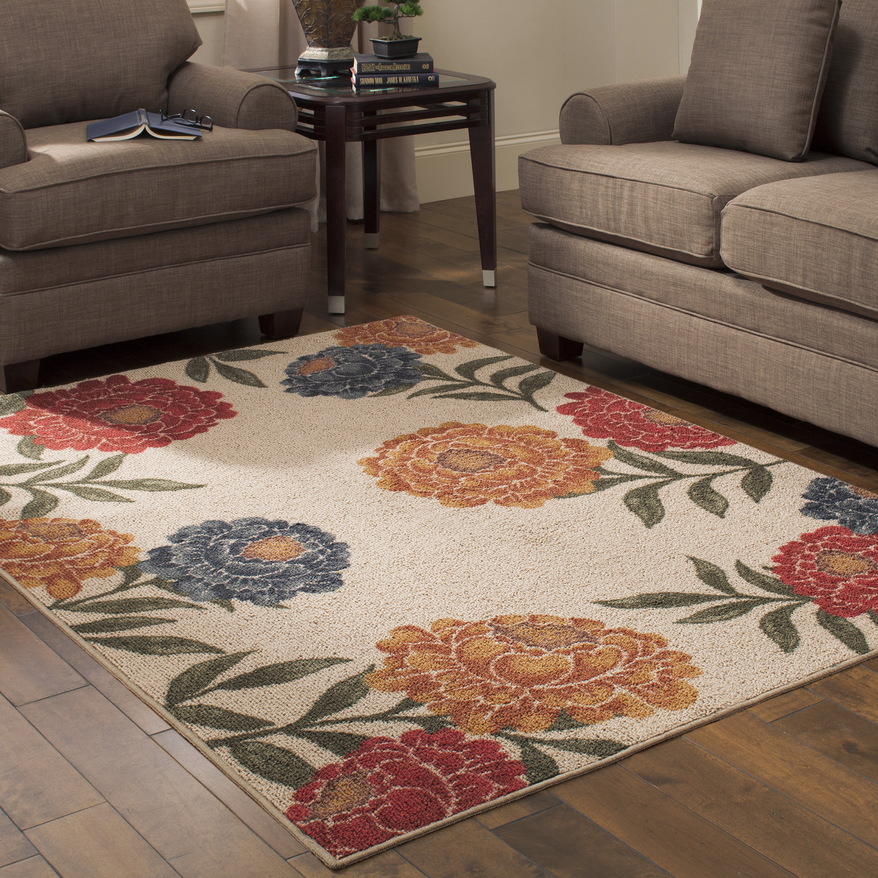 Click here to buy Better Homes and Gardens Floral Berber Area Rugs or Runner by Maples Industries.
