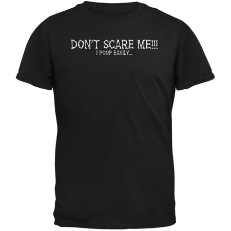 Halloween Scare Poop Easily Black Adult T-Shirt (Halloween Scare Attractions)