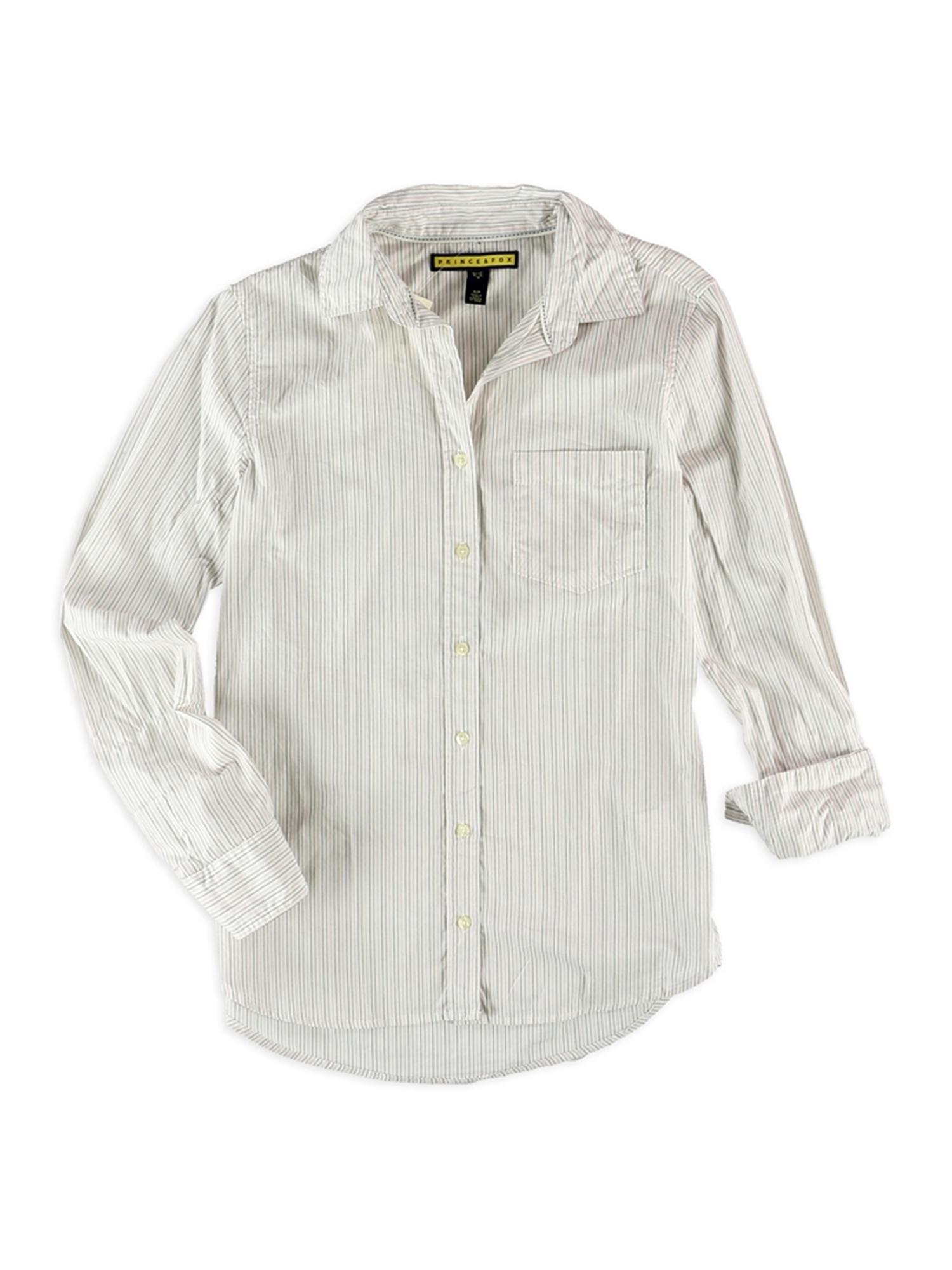 Aeropostale Juniors Striped Pocket Button Up Shirt