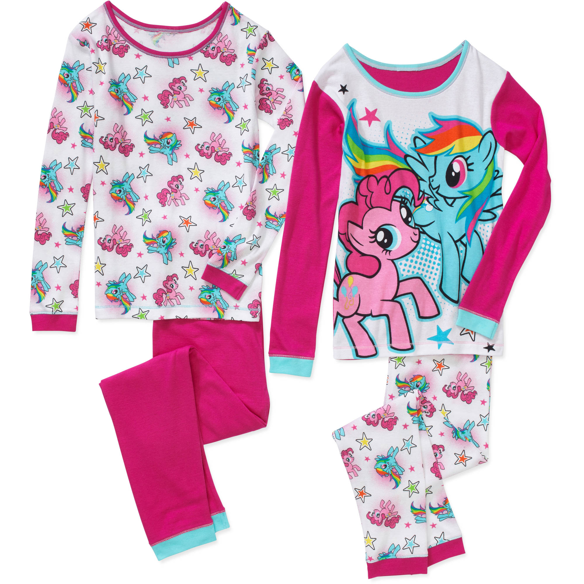 Girls' Licensed 4-Piece Cotton Pj