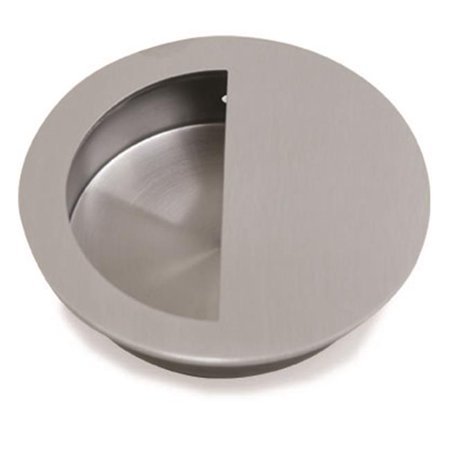 Jako 90 mm Round Flush Pull, Satin US32D - 630 Stainless Steel