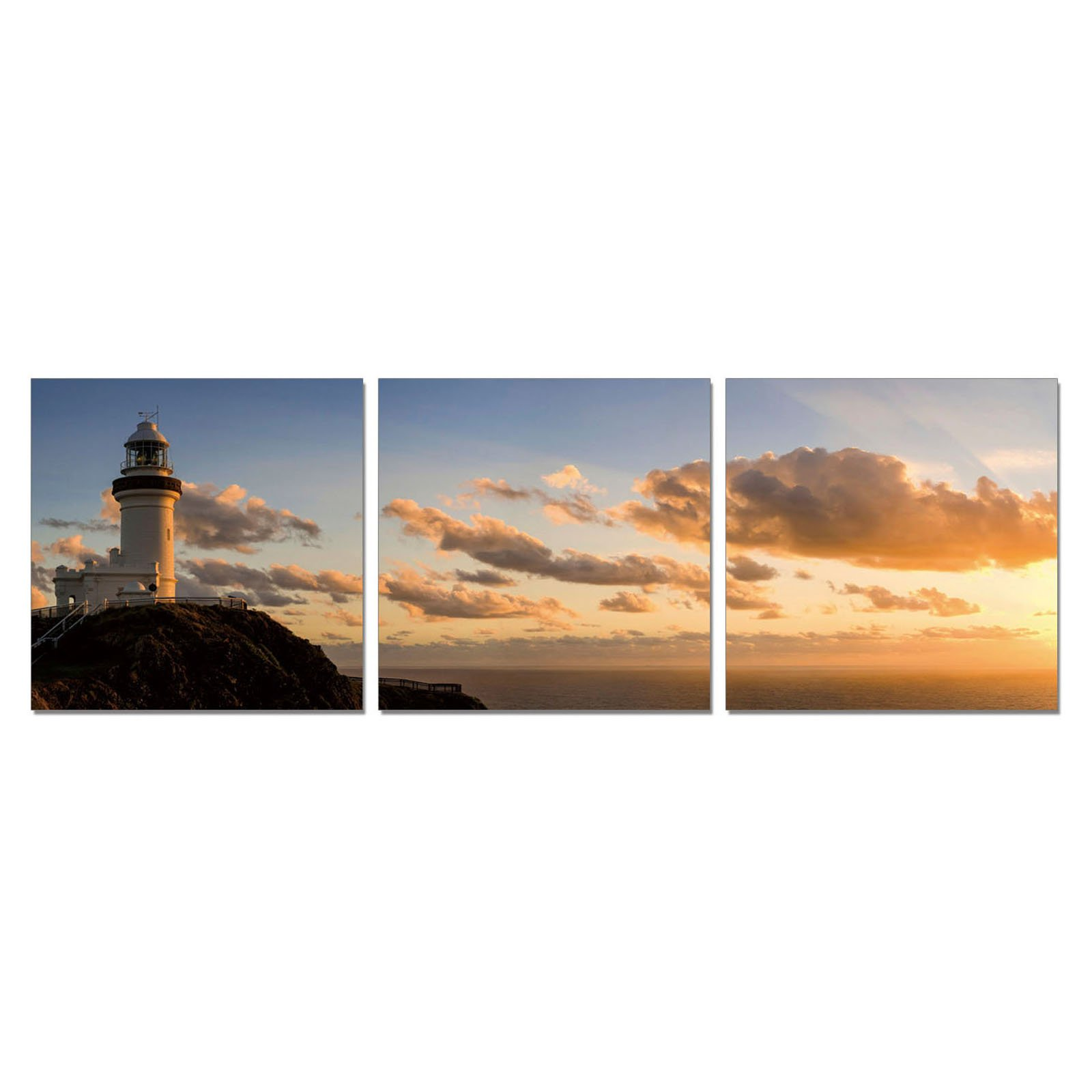 Furinno SENIC Light House 3-Panel Canvas on Wood Frame, 60 x 20-in