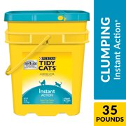 Purina Tidy Cats Clumping Cat Litter, Instant Action Multi Cat Litter, 35 lb. Pail