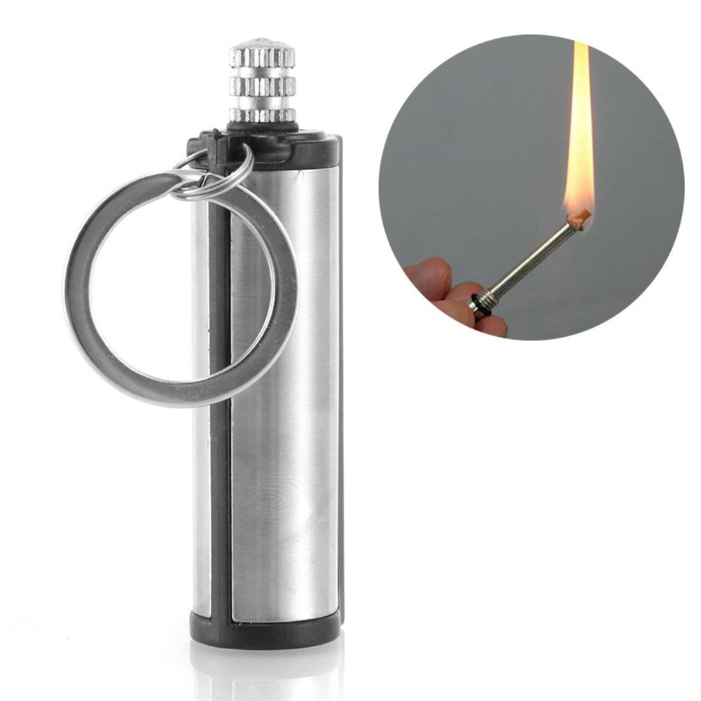 Fire Starter Multi Emergency Flint Match Lighter Camping Survival Keychain Heiß