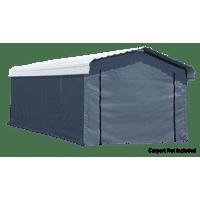 Arrow 12' x 20' Enclosure Kit for Carport, Grey