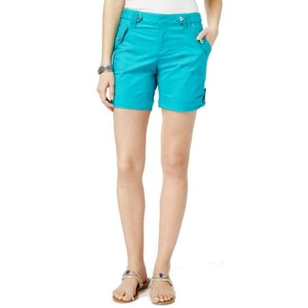 INC Womens Teal Straight leg Short  Size: 8