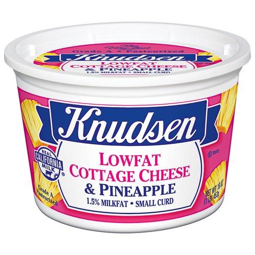 Knudsen Lowfat Cottage Cheese & Pineapple, 16 oz