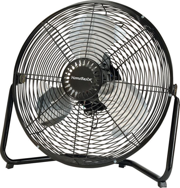 Homebasix LF-14 High Velocity Floor Fan, Black