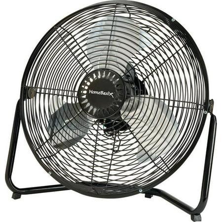 PowerZone High Velocity Floor Fan, Black