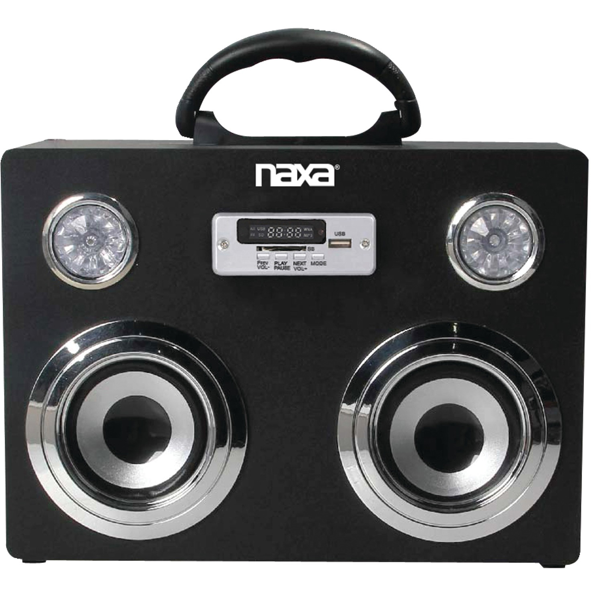 NAXA Electronics Portable Wireless Sound System and MP3 Player with Bluetooth