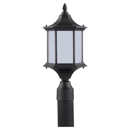 Sea Gull Lighting 89236BL Ardsley Court 1 Light Outdoor Lantern Post Light