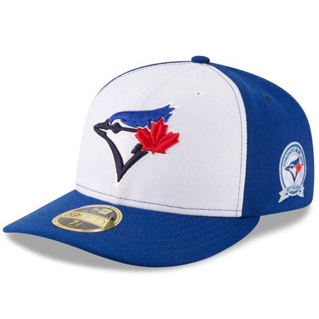 Toronto Blue Jays New Era 40th Anniversary Low Profile 59FIFTY Fitted Hat -  White Blue - Walmart.com caa72b2293e7