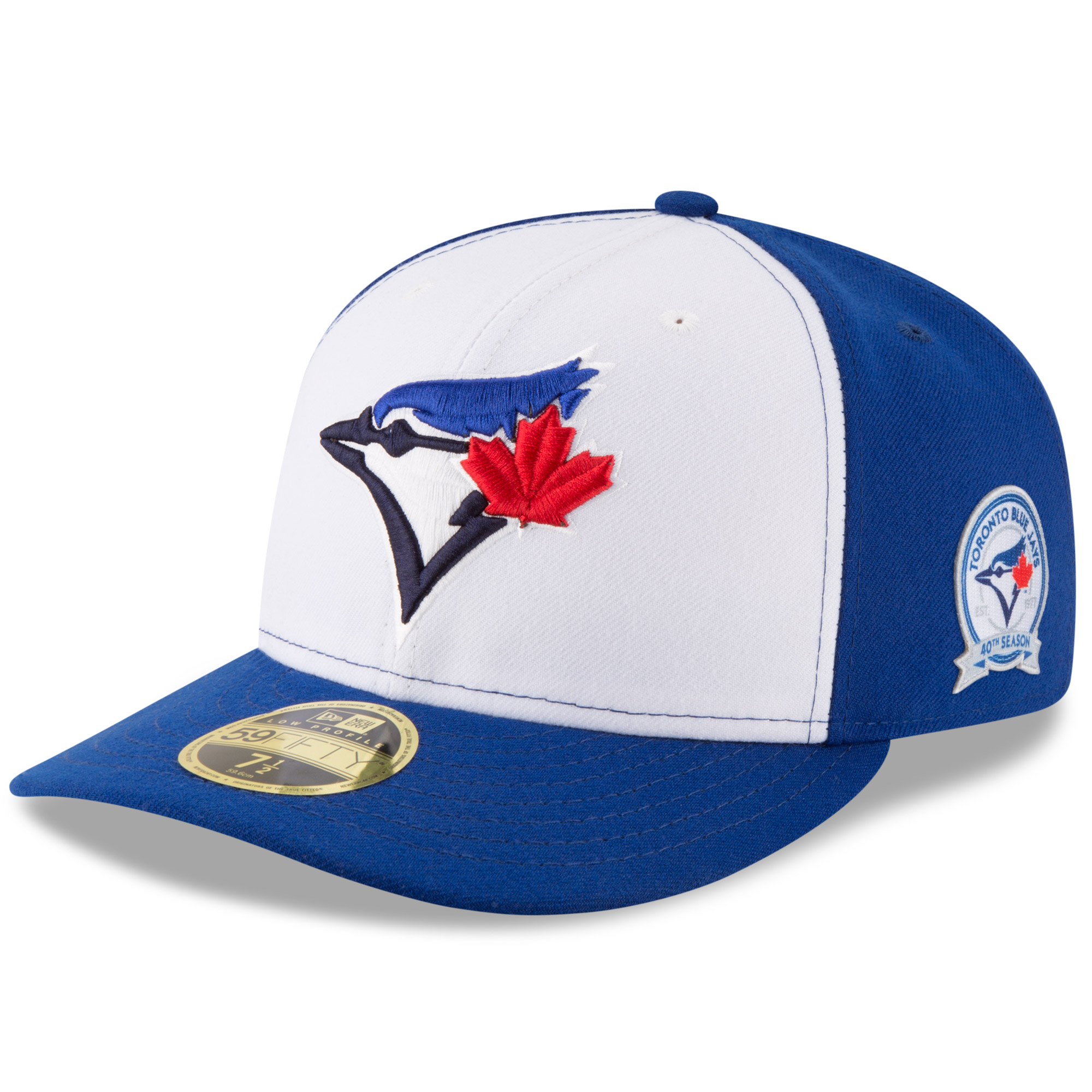 Toronto Blue Jays New Era 40th Anniversary Low Profile 59FIFTY Fitted Hat - White/Blue